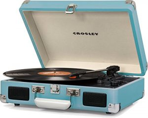 Crosley Cruiser Deluxe Vintage Suitcase Turntable, Turquoise