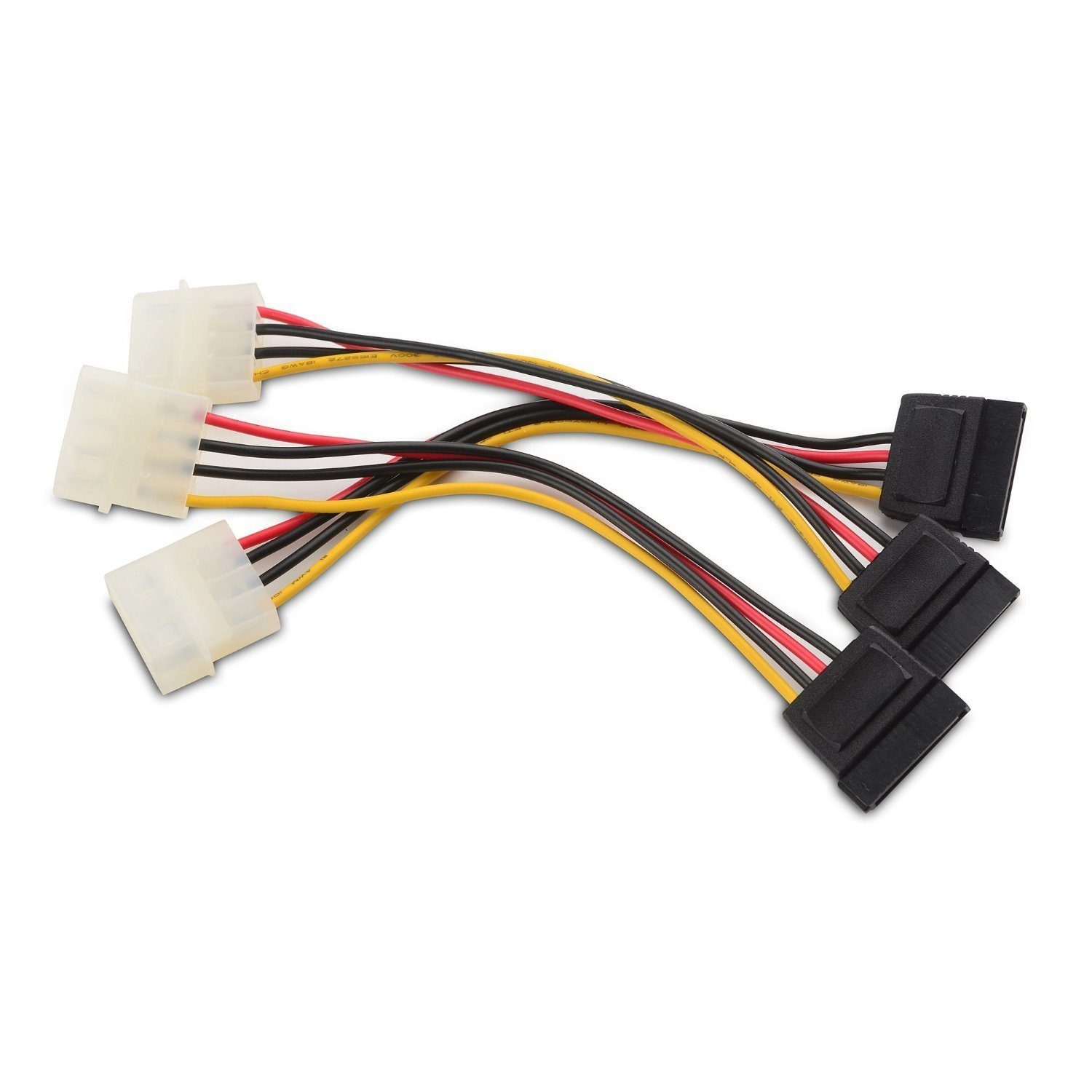 Cable Matters 3-Pack 4 Pin Molex to SATA Power Cable