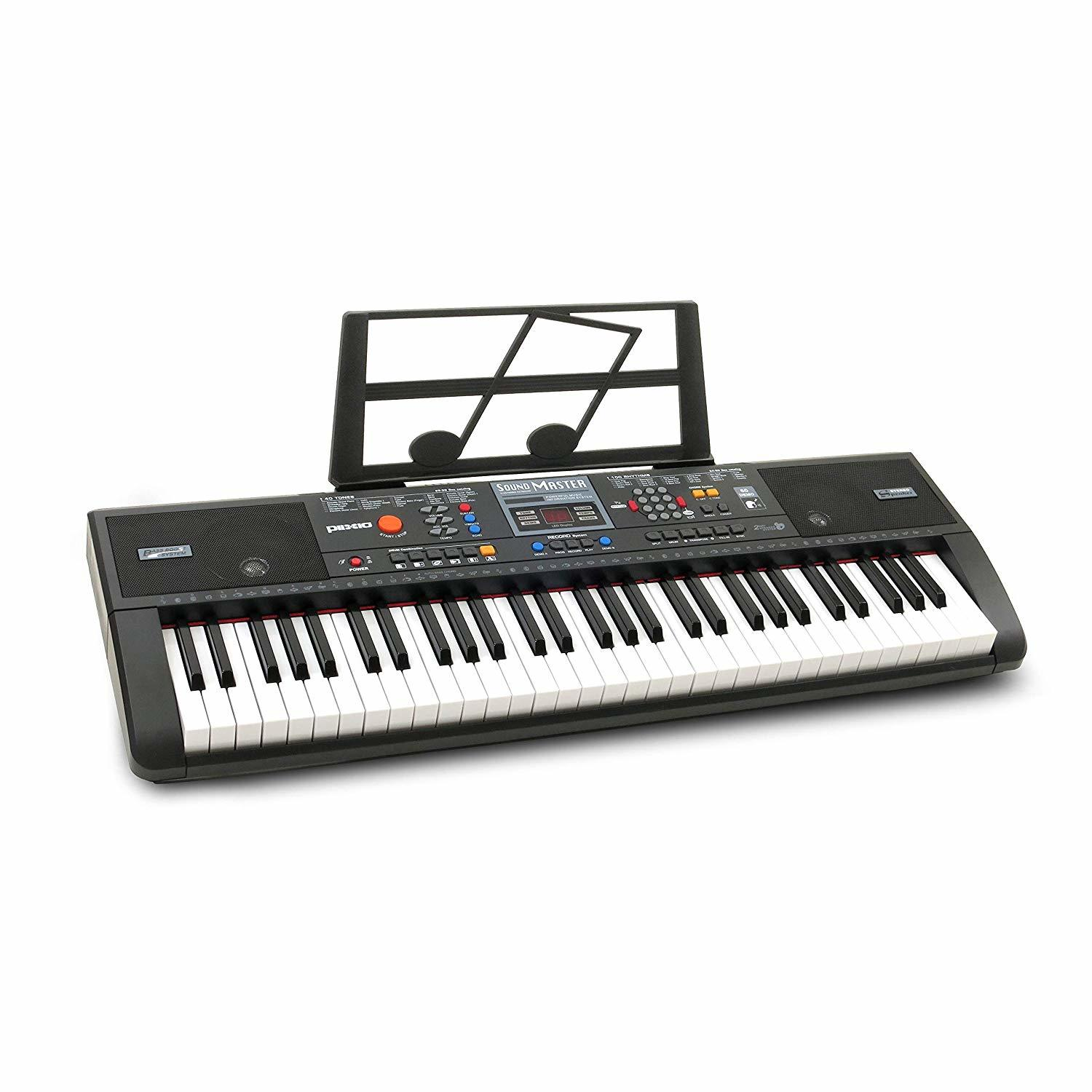 Plixio 61-Key Electric Piano Keyboard