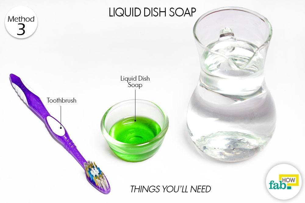 Cleaning with Dish Soap and Water