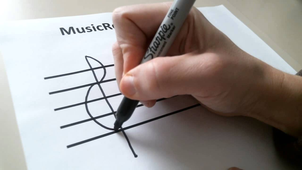 Start on the F Line and Draw the Bass Clef : Read Piano Sheet Music
