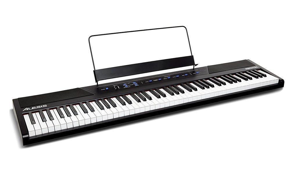 Alesis Recital 88-Key Beginner Digital Piano with Full-Size Semi-Weighted Keys