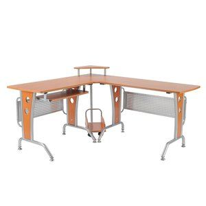 HOMCOM 61 in. Modern L-Shaped Office Workstation Computer Desk