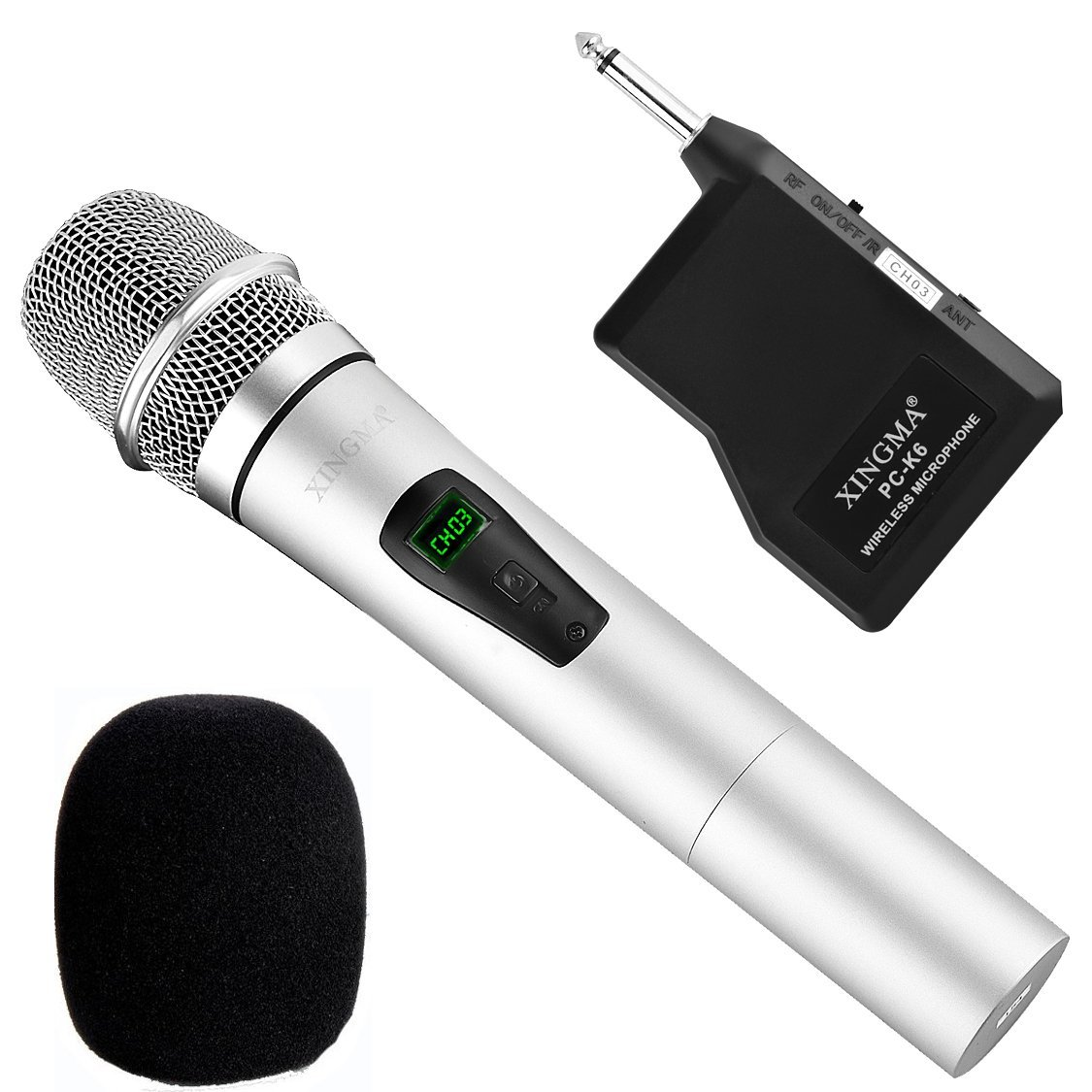 1. Xingma UHF Rechargeable Handheld Wireless Karaoke Microphone