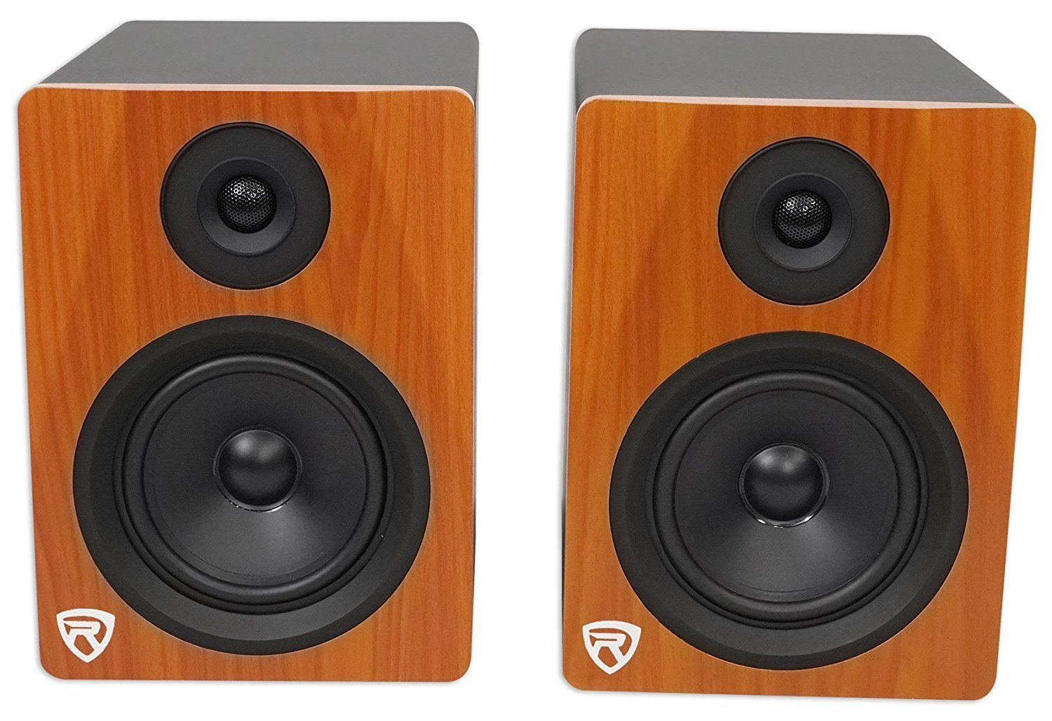 Rockville APM8W 8inch 2-Way 500W Active Powered USB Studio Monitor Speakers