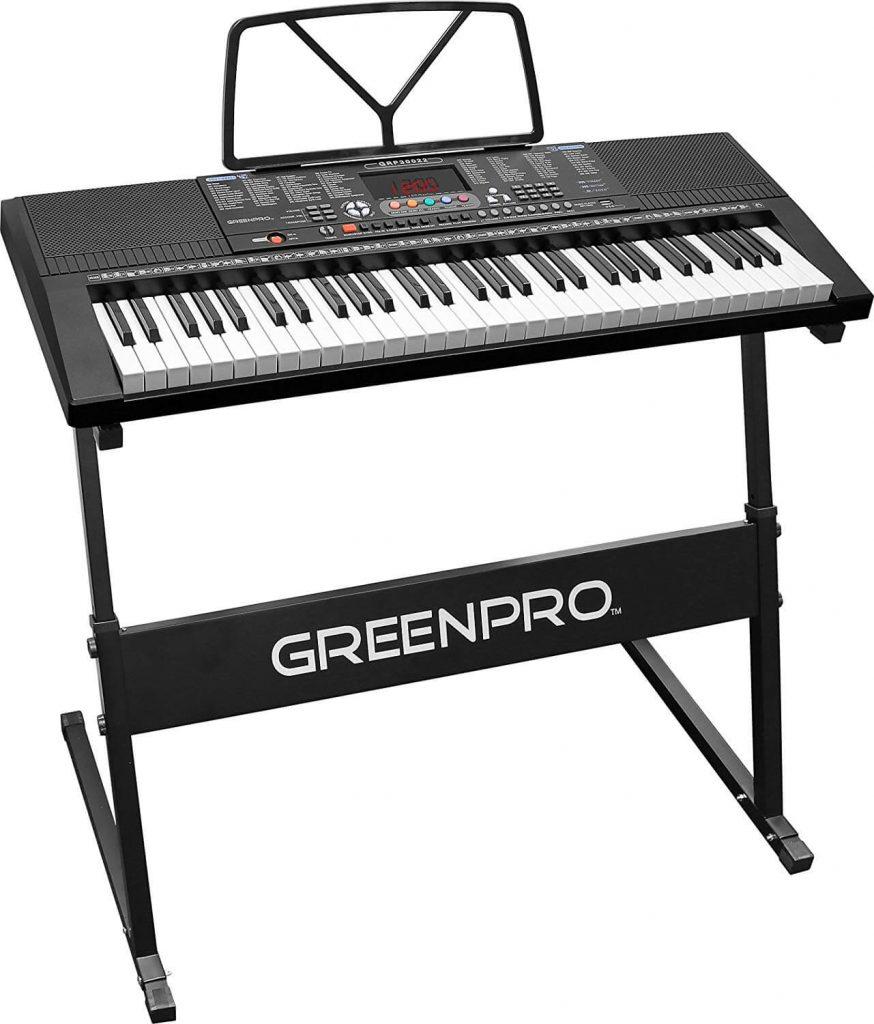 GreenPro 61 Key Portable Electronic Piano Keyboard