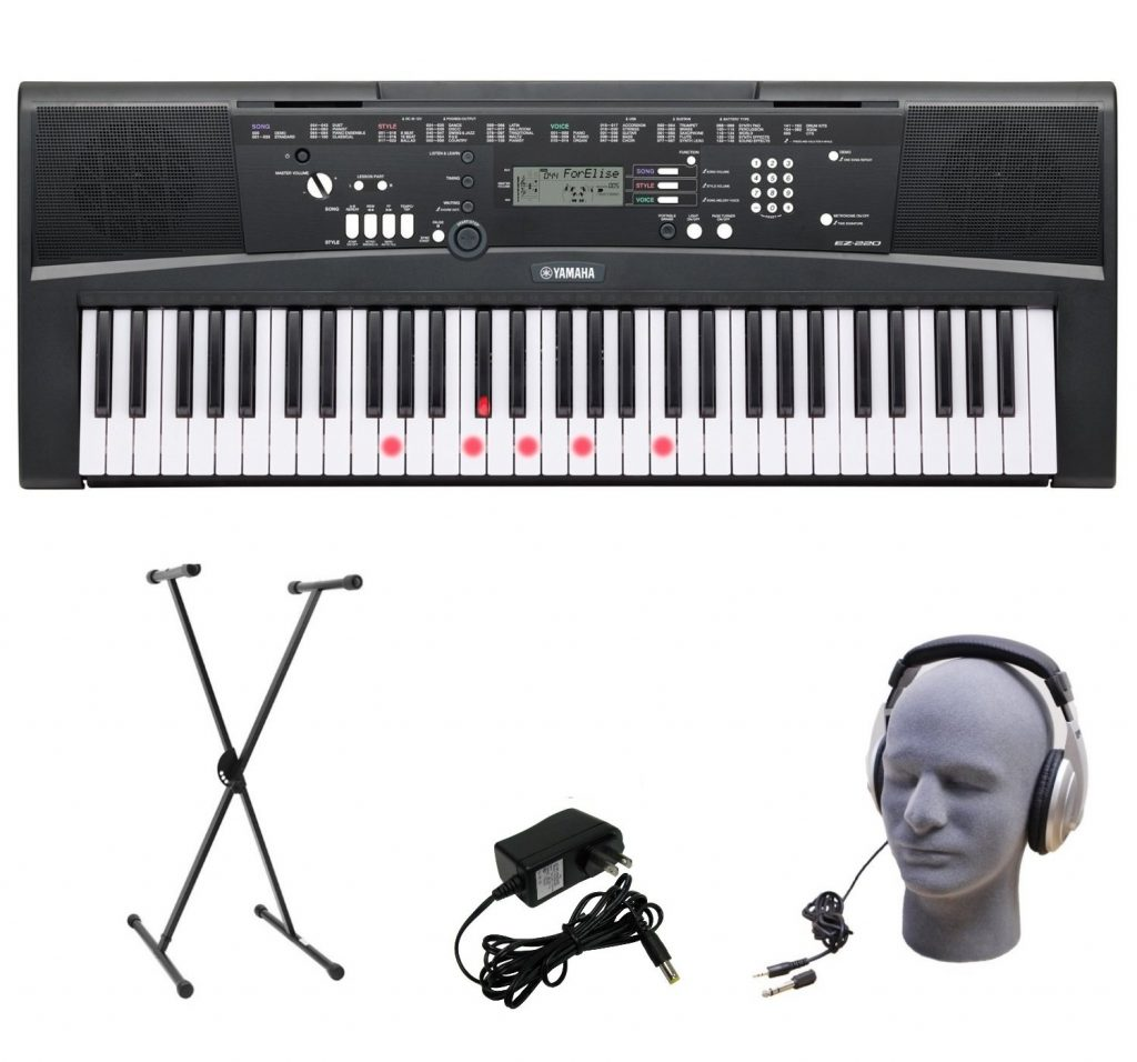 Yamaha EZ-220 piano keyboard